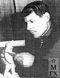 И. М. Абаляев за работой.