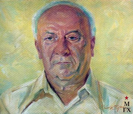 М.М. Абегян. Портрет академика Мартына Вагановича Касьяна. 1976.