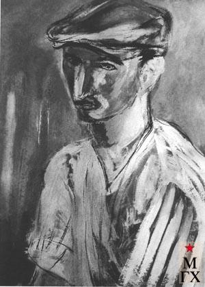 Аксельрод М. М. Пекарь. 1930. К. Гуашь. 44х31.3. ГМИИ
