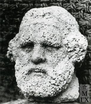 А. А. Арендт и А. Григорьев. М.А. Волошин. 1950. Цемент. В. 16 см.