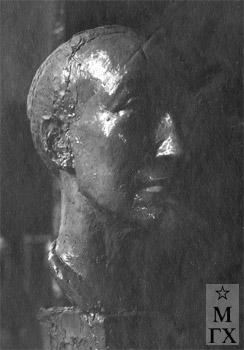А. А. Арендт. Голова натурщика. 1928.