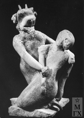 А. А. Арендт. Фавн и нимфа. 1970. Камень. 27х16х18.
