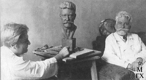 А. Арендт и проф. П. Д. Соловов. Боткинская больница. 1936 г.