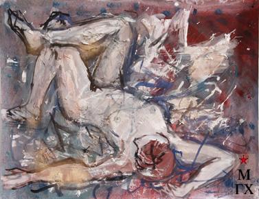 Мария Арендт. Лежащая обнаженная. 2005.