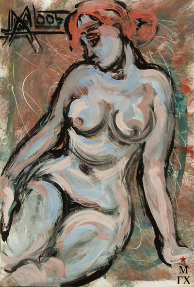 Мария Арендт. Обнаженная с красными волосами. 2005.