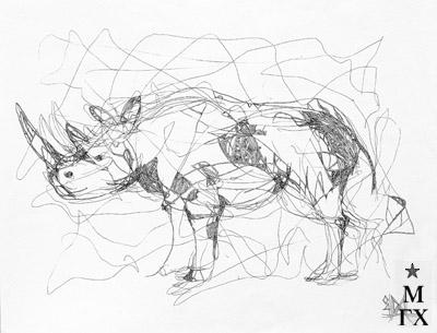 Мария Арендт. Носорог. 2004.