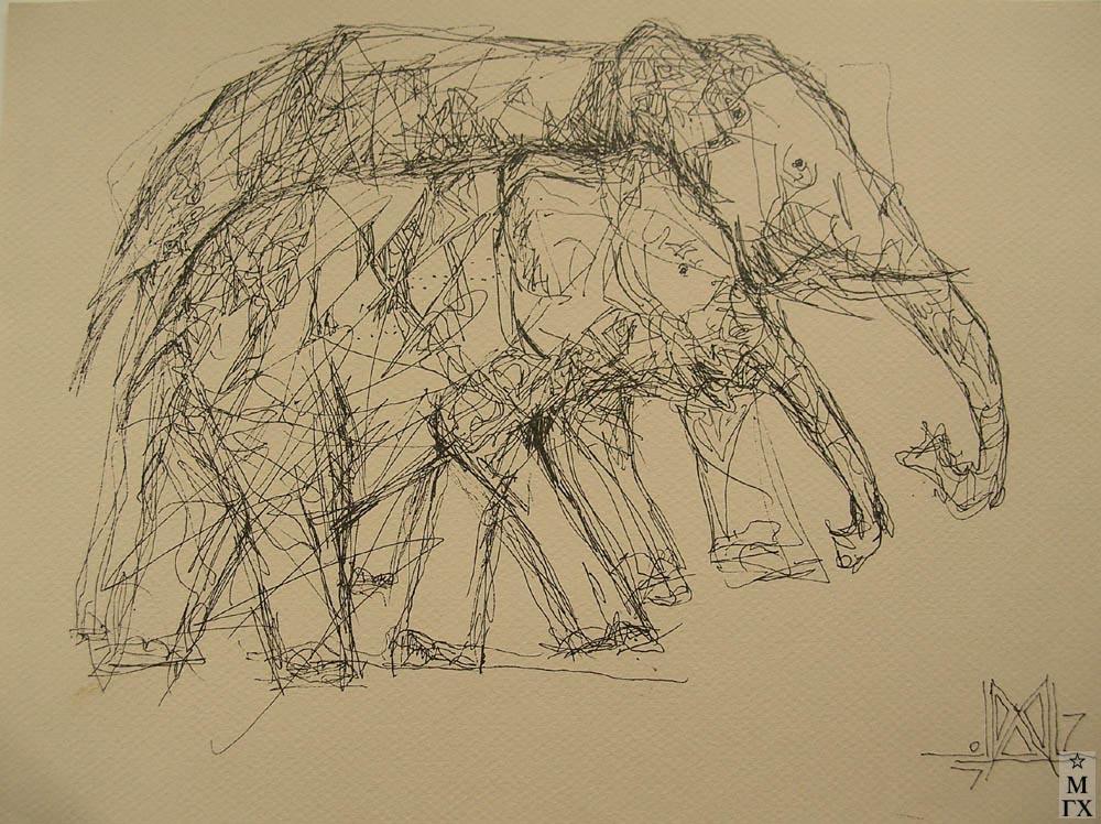 Мария Арендт. Два слона. 2007.