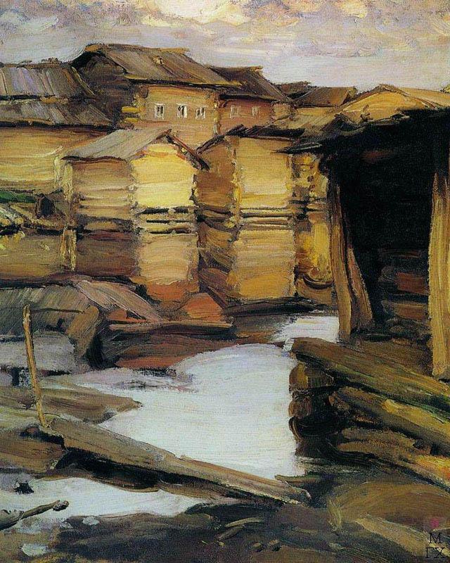 Архипов А. Е. Северная деревня. 1902. Холст, масло. 82x67. Государственный Русский музей.