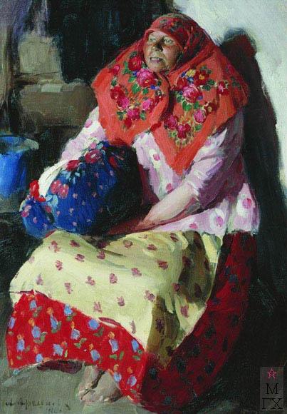 Архипов А. Е. Крестьянка. 1916. Холст, масло. 127x96. Государственная Третьяковская галерея.