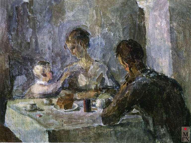 Ашкенази М. М. Завтрак. 1934-1935. Х.М. 27х38.