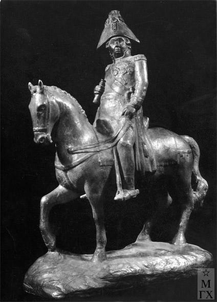 М.Б. Айзенштадт. М.И. Кутузов на коне. 1947. Металл. 50х35х15.