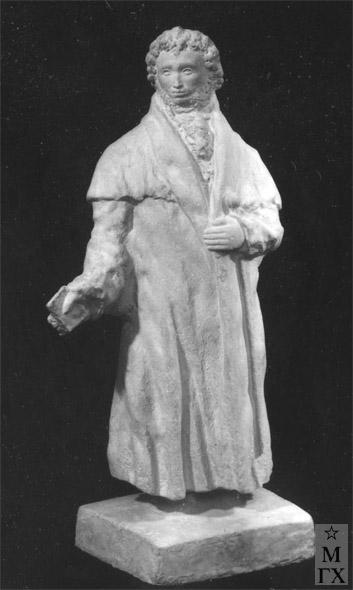 М.Б. Айзенштадт. А.С. Пушкин. 1937. Гипс. 70х50х45.