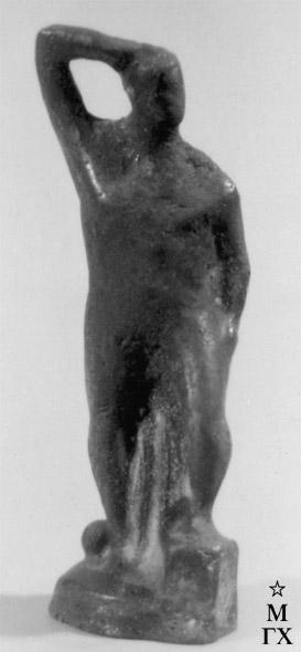 М.Б. Айзенштадт. Мужская фигура. 1931. Фарфор. В. 11 см.