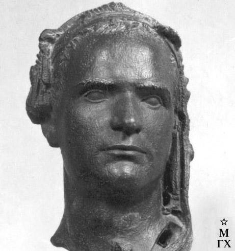М.Б. Айзенштадт. Портрет скульптора А.А. Арендт (фрагмент).