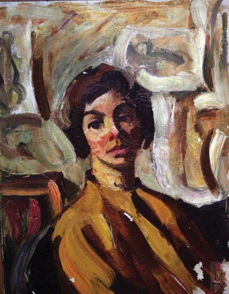 А.И. Базлаков. Женский портрет. 60х45