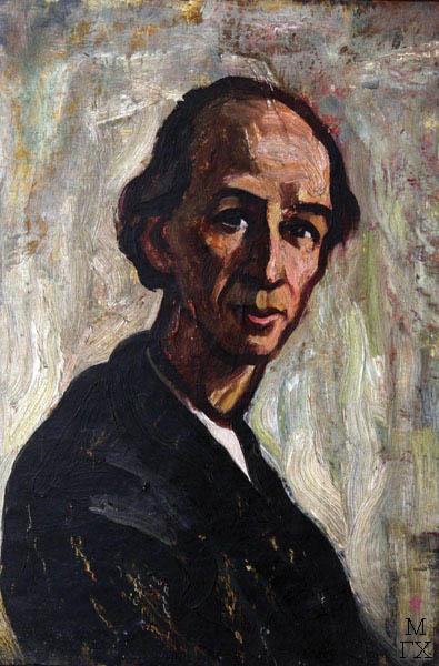 А.И. Базлаков. Портрет М.К. Некрасова (правнука брата). 1968. Х.М. 47х33