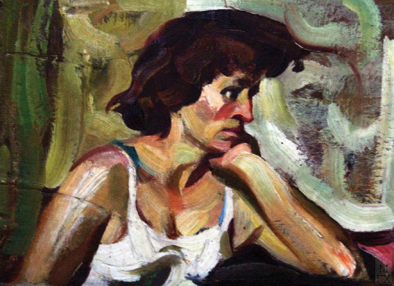 А.И. Базлаков. Женский портрет.