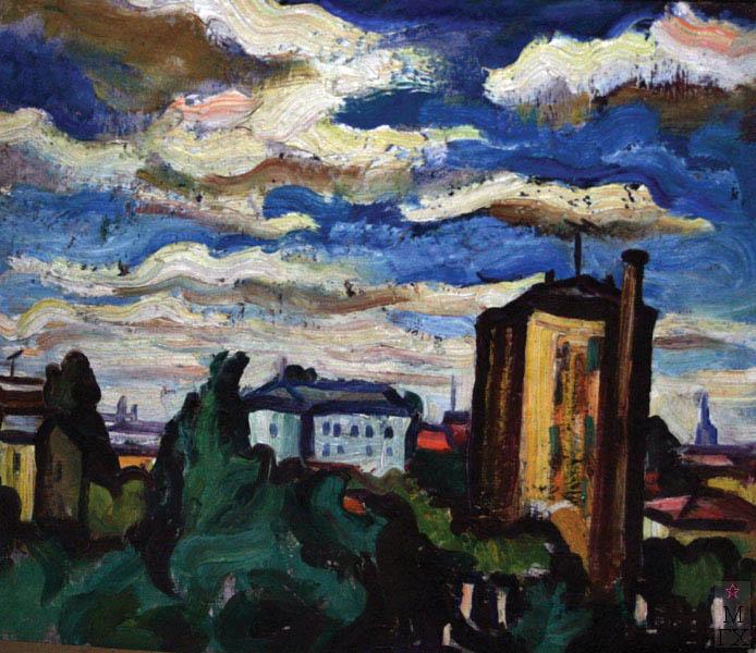 А.И. Базлаков. Городской пейзаж.