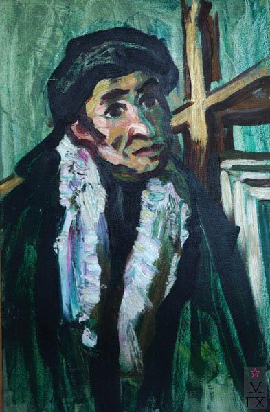 А.И. Базлаков. Автопортрет. 1974. Х.М. 70х50