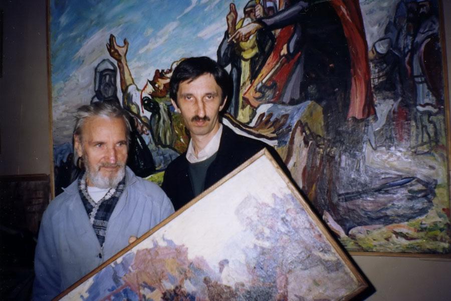 А.И. Базлаков в мастерской