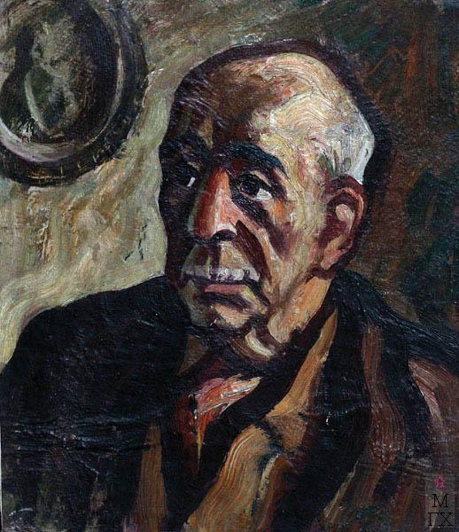 А.И. Базлаков. Поэт П.Г. Антокольский. 1971. Х.К.М. 39х34.