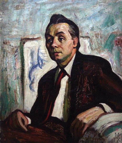 А.И. Базлаков. Портрет писателя А.А. Михайлова. 58х50