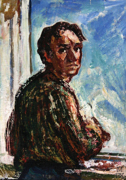 А.И. Базлаков. Мужской портрет. К.М. 70х50