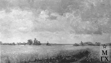 Н.Я. Белянин. Ржаное поле. 1947. Х.М. 65х115. ?