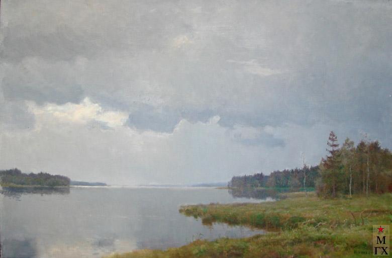 Н.Я. Белянин. Перед дождём. 1960. Х.М.68х104