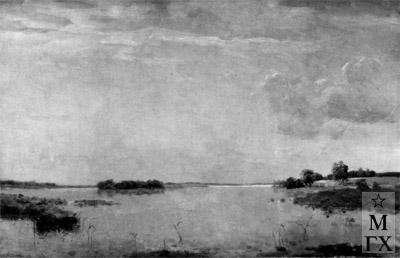 Н.Я. Белянин. Полдень на озере. 1946. Х.М. 73х109. ?.