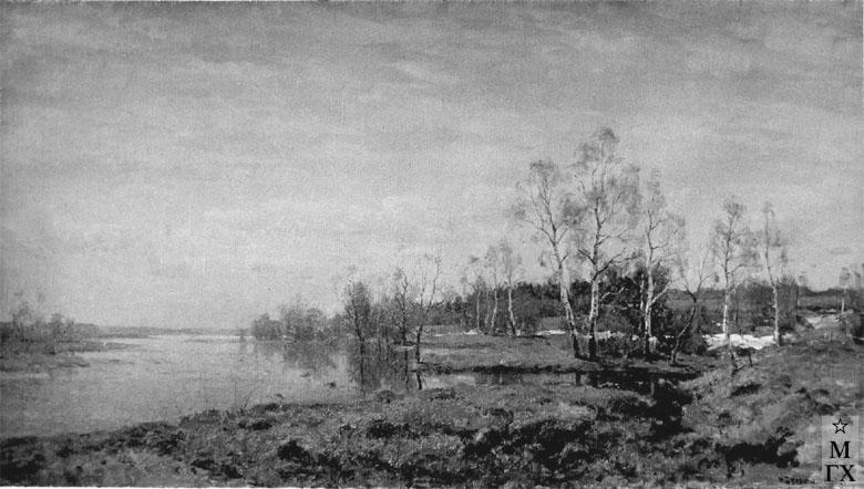 Н.Я. Белянин. Весна. 1948. Х.М.67х115.