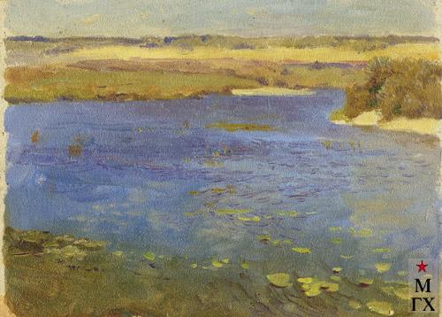 Н.Я. Белянин. Рябь на реке. 1938. К.М. 15.5х22.