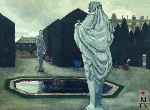 А. Н. Бенуа. Фантазия на Версальскую тему. 1906. Бум., гуашь. 49,6x67,7. (ГТГ)