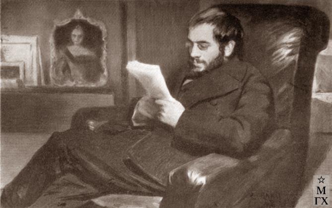 Л. Бакст. Портрет А. Н. Бенуа. 1898.