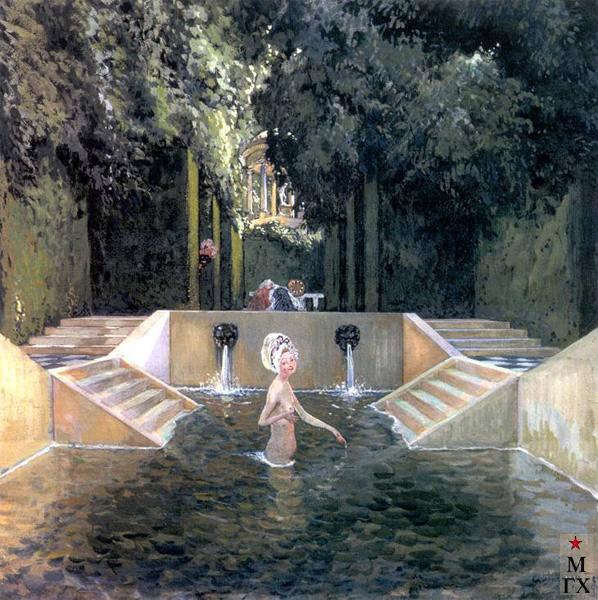 А. Н. Бенуа. Купальня маркизы. 1906.