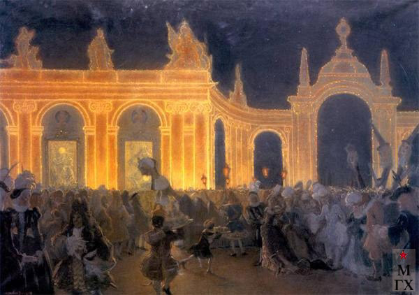 А. Н. Бенуа. Маскарад при Людовике 14. 1898.