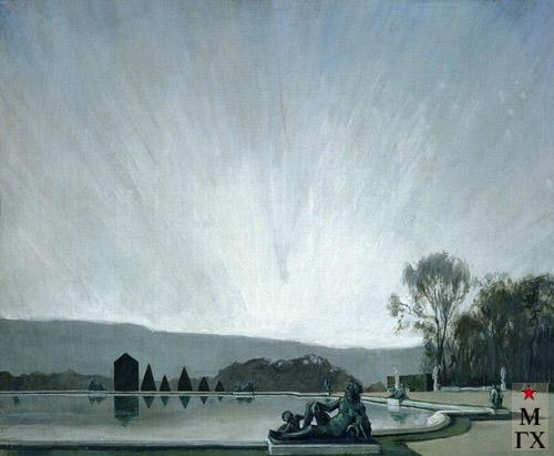 А. Н. Бенуа. Версаль. Бум. Гуашь. 44x64. (Национальная галерея Армении, Ереван).