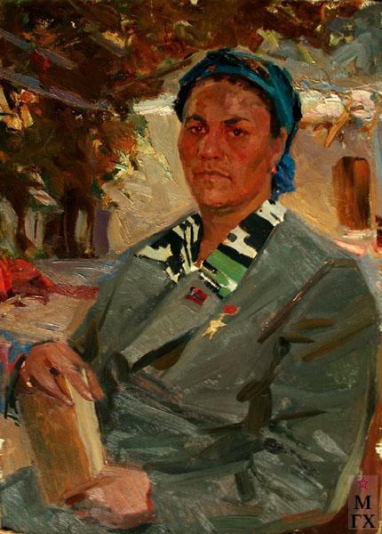 Н.Н. Чебаков. Портрет Назиры Юлдашевой. 1963. К.М.