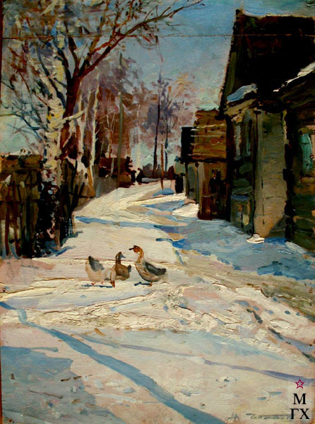 Н.Н. Чебаков. Мартовский снег.