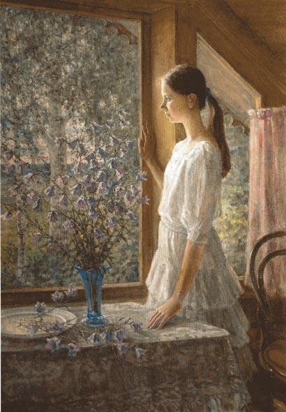 Чулович М.В. Белые ночи (портрет дочери). 1998. Х.М. 116х81