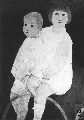 Ермолаев Б. Н. Дети. 1930. К.М. 69х46.4. Тбилиси.