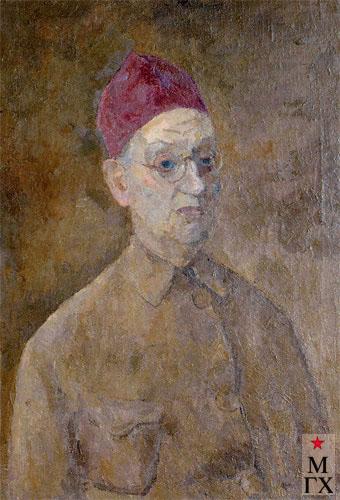 Фальк Р. Р. Автопортрет в красной феске. 1957