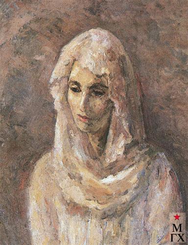 Фальк Р. Р. Р.Р. Фальк. В бедой шали (портрет А. Щекин-Кротовой). 1946-1947 гг.
