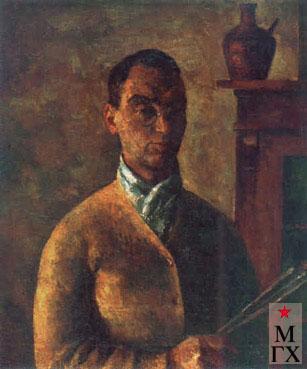 Фальк Р. Р. Автопортрет в жёлтом. 1924 г.