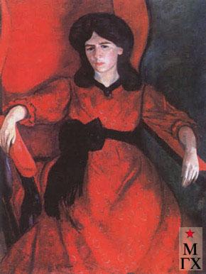Фальк Р. Р. Р.Р. Фальк. Лиза в кресле. Портрет жены художника. 1910.