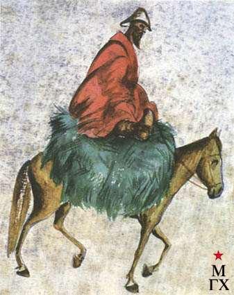 Гайдукевич М. З. Киргиз на лошади. 1926. Б.Акв. 13х11. ГМИНВ.