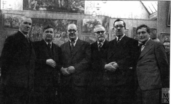 'Бубновый валет', 1941 г. Рождественский, Лентулов, Кончаловский, Куприн, Машков, Осмеркин