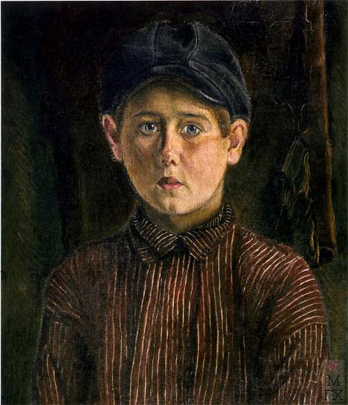Гиневский А. О. Портрет крестьянского мальчика. 1929. Х.М. 60х42.