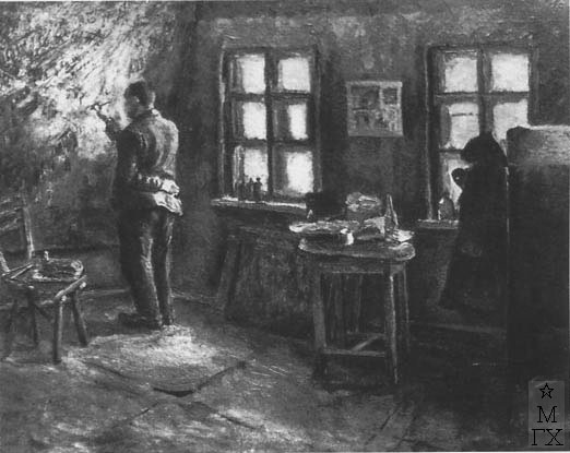 Гиневский А. О. Липа Русаковский пишет «Парк». 1933. Х.М.