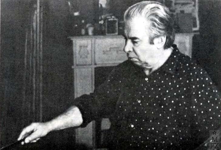 Н.Н. Горлов за работой. 1983